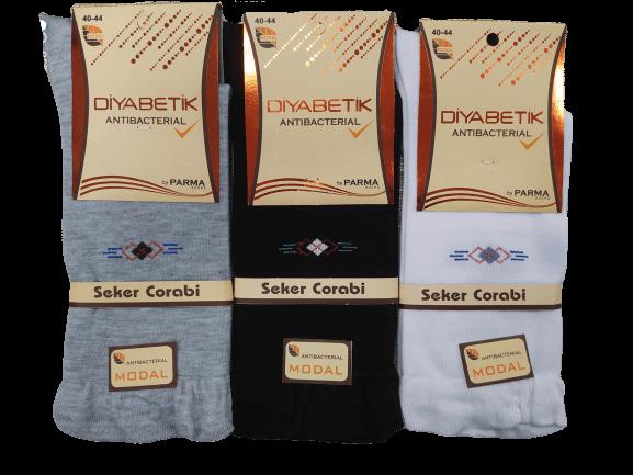 جوراب مردانه دیابتیک نخ هندی پنجه گیری